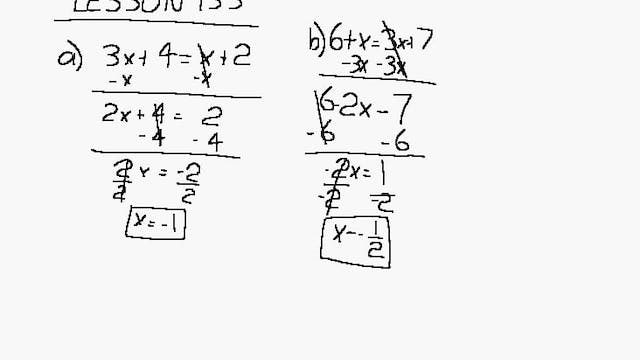 Lesson 133 DIVE Algebra 1/2, 2nd Edition