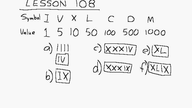 Lesson 108 DIVE Algebra 1/2, 2nd Edition