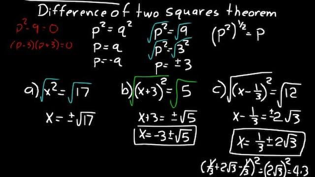 Lesson 45 DIVE Algebra 2, 3rd Edition