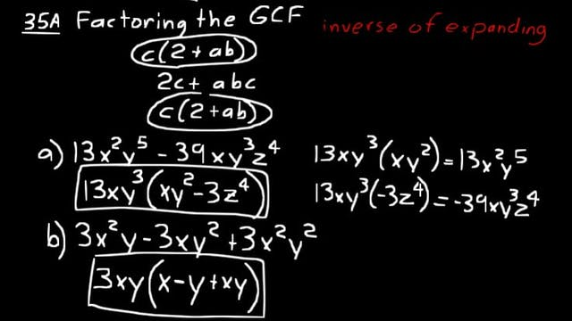 Lesson 35 DIVE Algebra 1, 3rd Edition
