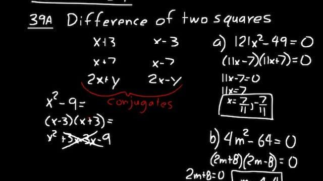 Lesson 39 DIVE Algebra 2, 3rd Edition