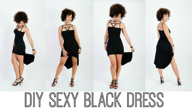 Trailer DIY Black Party Dress
