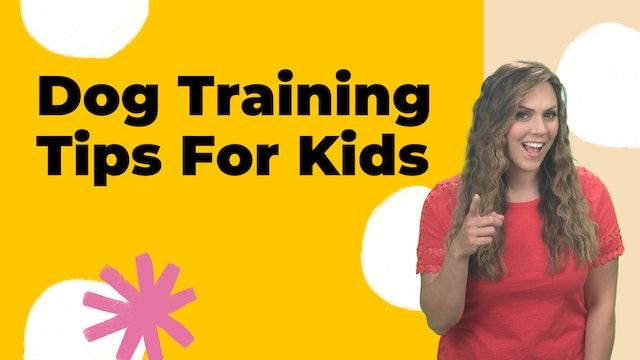 Dog Training Tips For Kids
