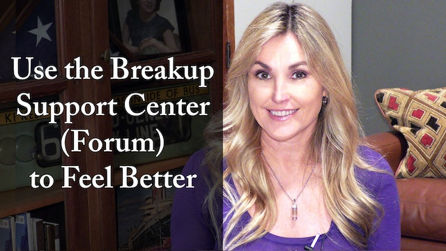 Use the Breakup Support Center (Forum) to Feel Better