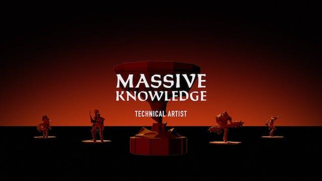 MASSIVE KNOWLEDGE // Technical Artist Panya Inversin