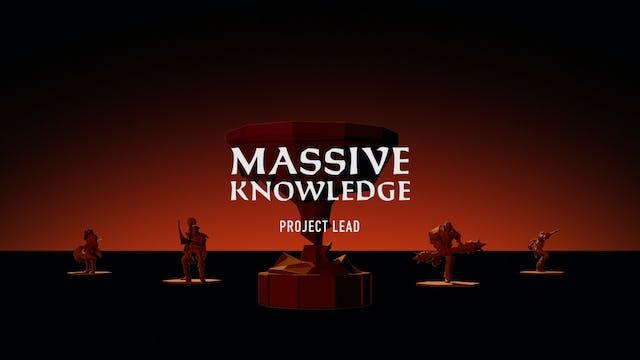 MASSIVE KNOWLEDGE // Project Lead Brad Muir