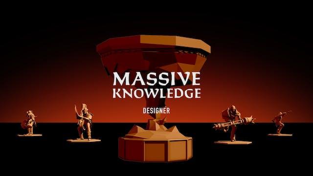 MASSIVE KNOWLEDGE // Designer John Bernhelm
