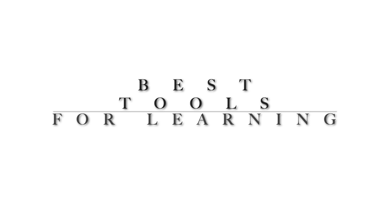 Tools and how they should be used