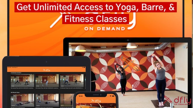 Get Unlimited Access to Yoga, Barre, & Fitness classes for only $14.99 a month!