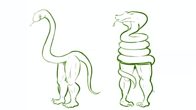 Morning Drawfee - Snakes with Legs