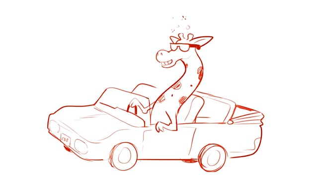 Morning Drawfee - Drunk Driving Giraffes