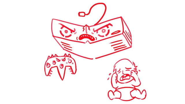 Morning Drawfee - Evil Game Console