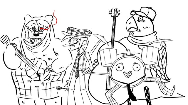 Drawing the Worst Cartoon Band (Knock...