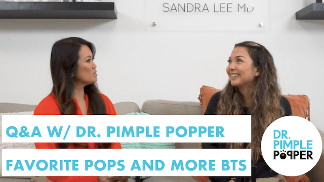 Q&A w/ Dr. Pimple Popper: Favorite Pops, Ticks, and MORE! || Behind-the-Scenes