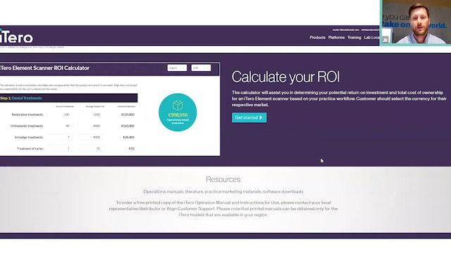 iTero Element Scanner ROI Calculator