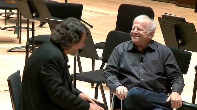 Composer Chris Brubeck talks with Leo...