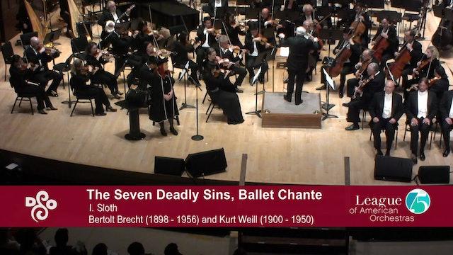 """Artwork for Kurt Weill, lyrics by Bertolt Brecht """"The Seven Deadly Sins"""""""