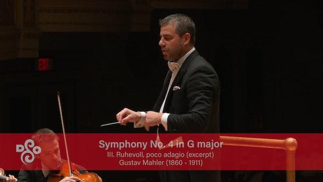 Artwork for Conductor Camera Mahler Symphony No. 4 III. Ruhevoll, poco adagio (excerpt)