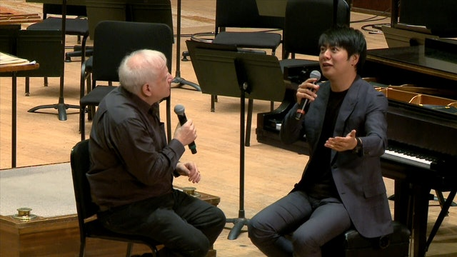 Lang Lang talks with Leonard Slatkin