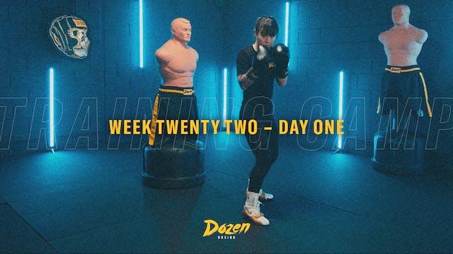 Week 22 – Day 1