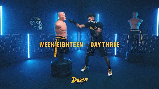 Week 18 – Day 3