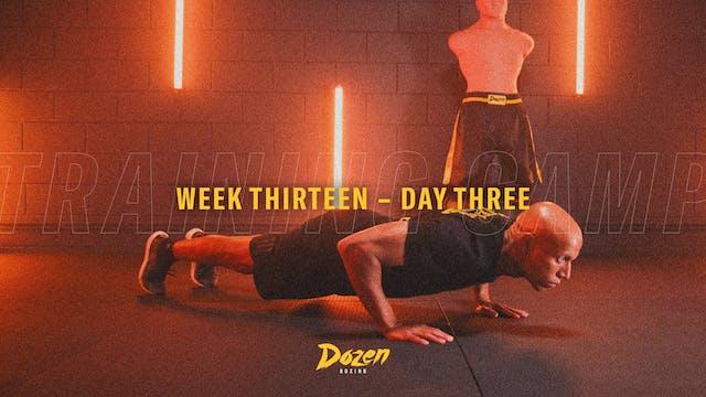 Week 13 – Day 3
