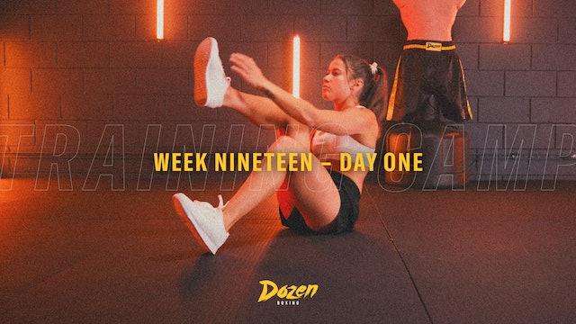 Week 19 – Day 1