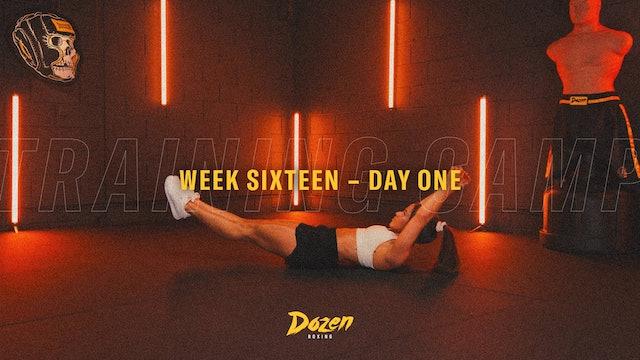Week 16 – Day 1