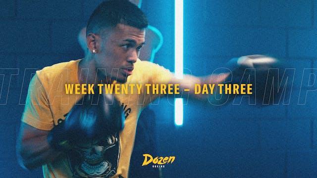 Week 23 – Day 3