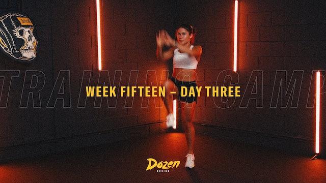 Week 15 – Day 3