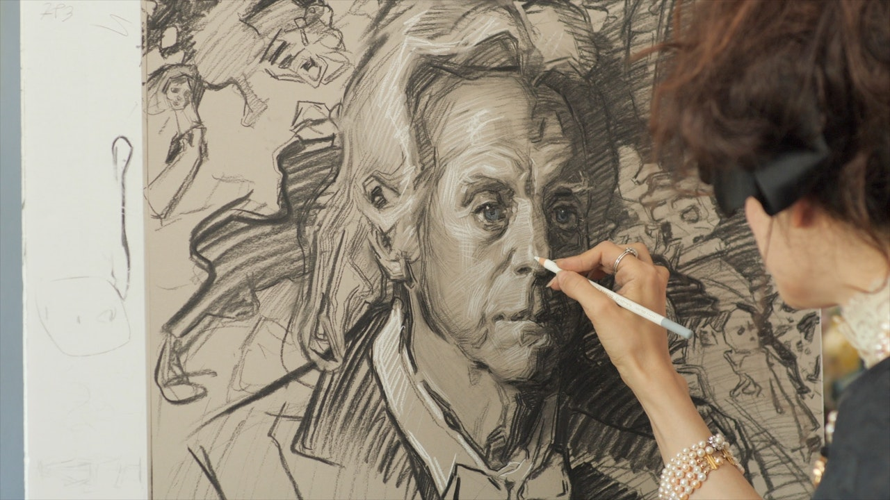 Teresa Oaxaca Drawing The Portrait