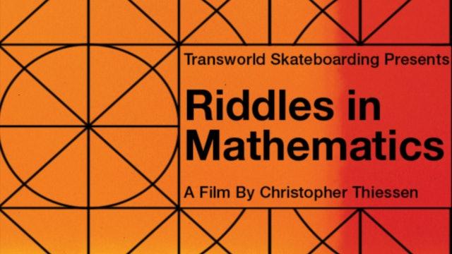 Riddles in Mathematics - Transworld Skate