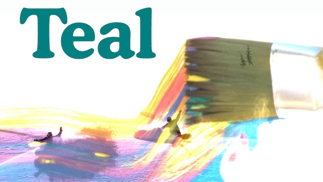 """""""Teal""""  poster 2 square"""