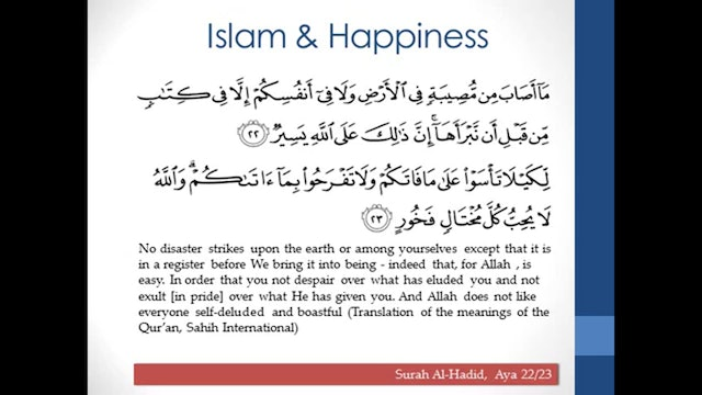 Islamic Guidance to Happiness and Wellbeing