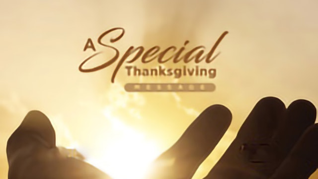 A Special Thanksgiving Message - Pastor Fred Price Jr.