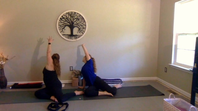 Mother & Daughter Partner Yoga