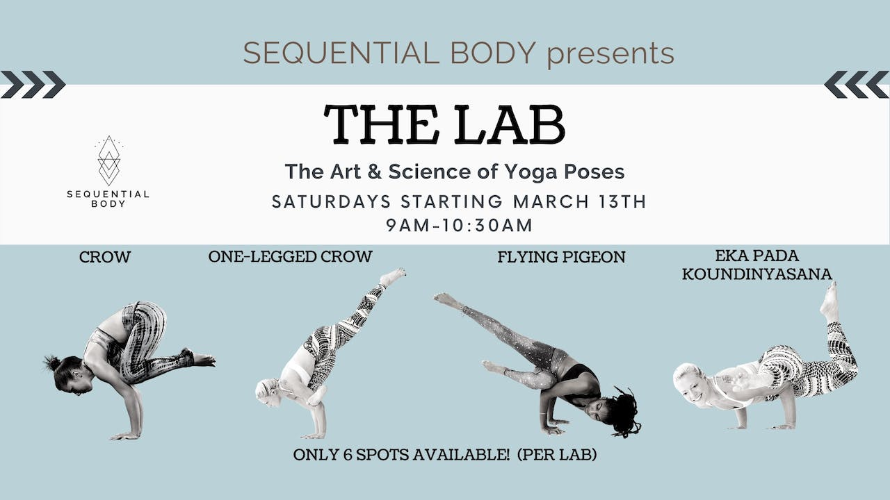 Sequential Body Lab: Flying Pigeon 4/18 9am PT