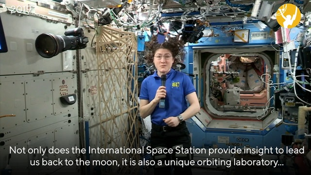 NASA Astronaut Christina Koch Presents from Space