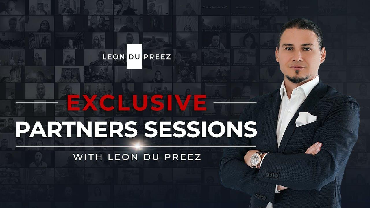 Exclusive Partner Sessions With Leon du Preez