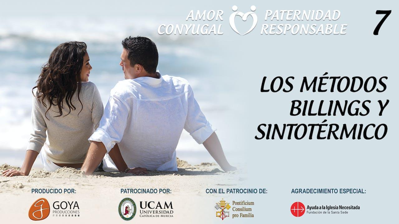 7. LOS MÉTODOS BILLINGS Y SINTOTÉRMICO