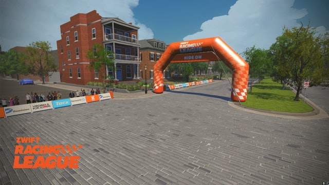 Zwift Racing League, Season 2 Race 1 - Richmond UCI Worlds Reverse - Points Race
