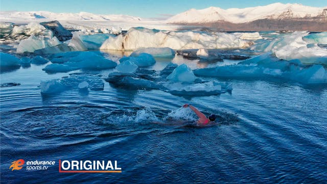 Birna. The Woman Who Swims In Ice