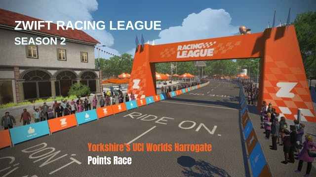 Zwift Racing League S2 Race 4 - Yorks...