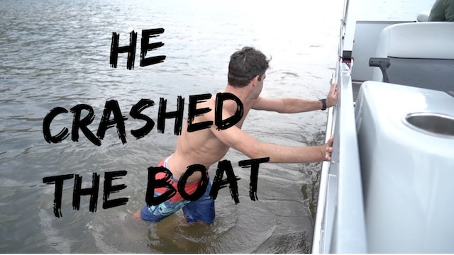 Tim CRASHED the boat