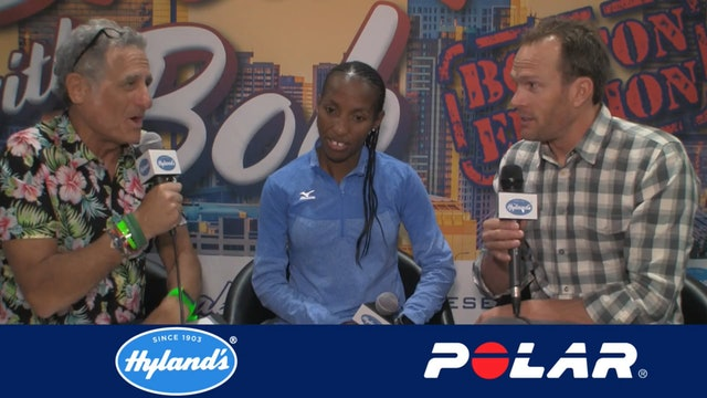 Breakfast with Bob 2018 Boston Edition: Caroline Rotich and her coach Ryan Bolton