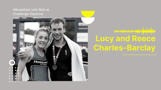 Breakfast with Bob at Challenge Daytona: Lucy and Reece Charles-Barclay