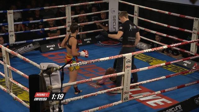 Enfusion #23  Iman Barlow (GBR) vs Soraya Haurissa (IDM) 21.12.2104