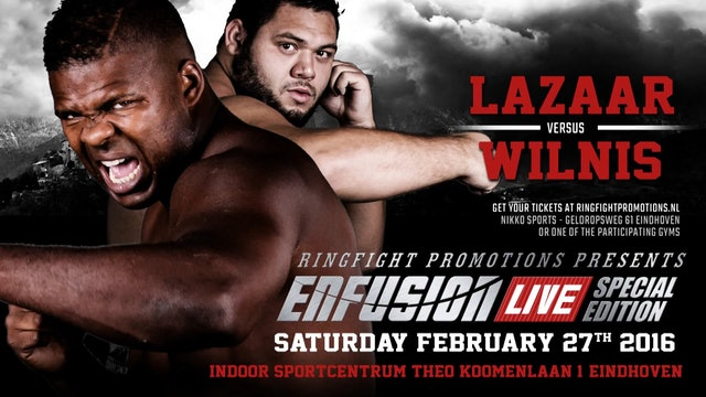 Enfusion #37 Eindhoven, The Netherlands  27.02.2016 Ismael Lazaar(MAR) Promo