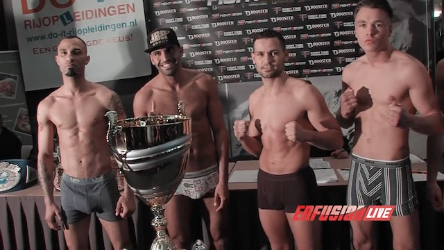 Enfusion Live #26 The Hague, The Netherlands 03.04.2015 Weigh-Ins