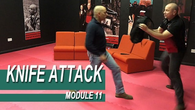 Knife Attack - Module 11 - Defense With A Bag Or  A Backpack